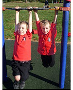 Boys' Uniform Options. The boys' uniform consists of either black shorts or black tracksuit pants combined with a short or long sleeved red polo shirt.