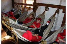 3/4 students learning about convict life on an excursion to Sydney
