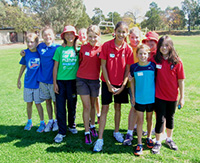 The House Colours being worn at the Athletics Carnival